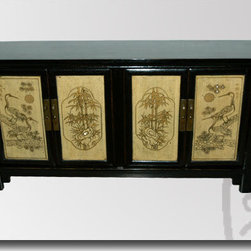 Asian Antique Furniture - RAB 34. Antique four season sideboard, made of Elmwood. Circa 1900. A real beauty.
