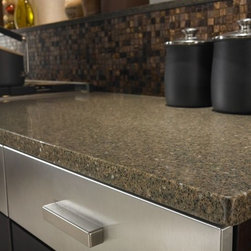 Countertop in Zodiaq® Smokey Topaz. - Photo by Dupont