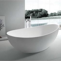 """Taissy Solid Surface Modern Bathtub 65"""" -"""
