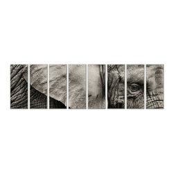 Vibrant Canvas Prints - Photo Canvas Prints, Framed Huge Canvas Print 5 Panel Sea Beach Painting - This is a beautiful, 100% quality cotton canvas print. This print is perfect for any home or office, and will make any room shine with its addition of color and beauty.  - Free Shipping - Modern Home and Office Interior Decor   Elephant Canvas Designs - 8 Panel Print   Wild Elephant Print on Canvas - Wall Art - 30 Day Money Back Guarantee.