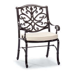Frontgate - Orleans Outdoor Dining Chair/Outdoor Bar Stool Cushion, Patio Furniture - Premium, high-performing fabrics. UV-treated to resist fading. 100% solution-dyed and woven for superior color fastness and longevity. High-resiliency, high-density foam core with soft polyester wrap provides years of support without sagging. Sold as a complete cushion set (number of cushions varies depending on furniture piece). Our Orleans Replacement Cushions instantly update the seating with comfort and all-weather endurance. The cushions' high-performing fabrics resist fading and mildew, and are easy to clean. Multiple layers of fill help the cushions maintain their loft. Part of the Orleans Collection.. . . . . Includes cushions only; all furniture pieces sold separately. Clean with mild soap and water or a mild solution of water and bleach.