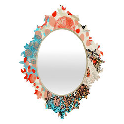 DENY Designs - Irena Orlov Exotic Sea Life 1 Baroque Mirror - As we like to say around here, if it ain't baroque, don't hang it! With a sleek mix of baltic birch ply trim that's unique to each piece and a glossy aluminum frame, the baroque mirrors collection bumps your stylish reflection up a notch. Custom made in the USA for every order.