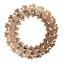 Cardboard Safari - Heart Wreath, Brown - Our recycled Heart Wreath is perfect for making anyone feel special. Our white cardboard is especially easy to paint or decorate using markers, glitter and other craft materials. Give a keepsake that will always be treasured.