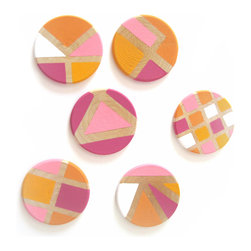 Pretty Little Things - Citrus Punch Magnets Set of 6 - These tangy colors will definitely add a juicy punch to your space!
