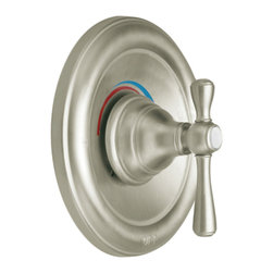 """Moen - Moen T3111BN Brushed Nickel Moentrol Valve Trim, 2-Function Balancing Cartridge - Moen T3111BN is part of the Kingsley bath collection. Moen T3111BN is a new bathroom decor style by Moen. Moen T3111BN has a Brushed Nickel finish. Moen T3111BN Moentrol valve only trim fits any MPact common valve system or MPact Moentrol 1/2"""" Valve. Valve sold separately. Moen T3111BN is part of the Kingsley bath collection with its traditional style combining classic antique look, with modern luxury. This collection delivers the best of both worlds. Moen T3111BN valve trim includes dual-function pressure balancing Cartridge. Moen T3111BN is a single handle valve trim only, the handle adjusts temperature and volume. Moen T3111BN valve only single handle trim provides for ease of operation. Moen T3111BN Moentrol pressure balancing valve maintains water pressure and controls temperature. Moen T3111BN is approved by ADA. Brushed Nickel is an exclusive finish from Moen and provides style and durability. Moen T3111BN metal lever handle meets all requirements ofADA ICC/ANSI A117.1 and CSA to meet CSA B-125, ASME A112.18.1M. Lifetime Limited Warranty."""