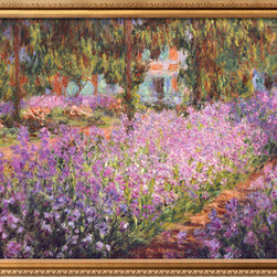 Artcom - The Artist&#146s Garden at Giverny, c.1900 by Claude Monet - The Artist&#146s Garden at Giverny, c.1900 by Claude Monet is a Framed Art Print set with a PARMA Gold Wide wood frame.