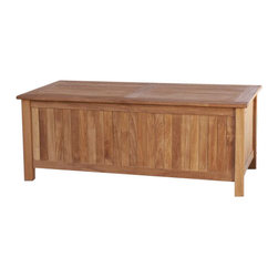 Holly and Martin - Teak Storage Box - Constructed of teakwood, this traditionally styled storage bench fits into any outdoor living space. Find a large compartment inside the bench to provide ample storage space for all your items. Since the wood is constructed of solid teakwood the bench will remain structurally sound for many years to come. Perfect for patio, deck or sunroom, this piece is not only beautiful, it is functional as well!