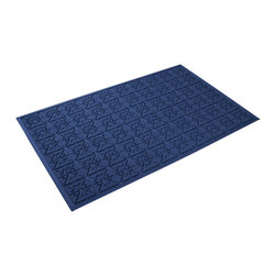 Bungalow Flooring - 36 in. L x 60 in. W Navy Waterguard Star QuiLight Mat - Made to order. Quilted star design traps dirt, resists fading, rot and mildew. Indoor and outdoor use. 36 in. L x 60 in. W x 0.5 in. H