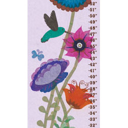 Oopsy Daisy - On Sale Hummingbird Garden Growth Chart - On Sale Hummingbird Garden Growth Chart