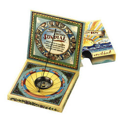 """Kid's Maritime Pocket Sundial - The kid's maritime pocket sundial measures 3.7 x 3.7 x 0.8"""". Our version of the earliest time telling methods, find a sunny day and have some fun."""