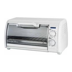Black & Decker - Black & Decker TRO420 Toast-R-Oven Classic Toaster Oven - 050875532601 - Shop for Toaster Ovens from Hayneedle.com! The Black & Decker TRO420 Toast-R-Oven Classic Toaster Oven is the ideal appliance for conveniently heating up lunch and snacks. This white toaster oven operates at 1200 watts and is perfect for roasting chicken baking fish fillets or even cooking a casserole. The toaster also features a signal bell and a power indicator. Includes a one-year warranty. Weight: 10 pounds. Dimensions: 20L x 14W x 12H inches.Black and Decker/ApplicaA household name with the reputation for quality and innovation Black & Decker is a leader in small home appliances and number one in a wide range of products for the home. As the exclusive licensee of Black & Decker household products in North South and Central America (excluding Brazil) Applica offers household solutions in award-wining designs to help make life easier and more comfortable at home. From irons toaster ovens and can openers to cooking appliances and food steamers Applica is dedicated to bringing you the cutting-edge Black and Decker products that streamline your daily life and make being at home more enjoyable.