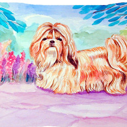 Caroline's Treasures - Shih Tzu Fabric Standard Pillowcase Moisture Wicking Material - Standard White on back with artwork on the front of the pillowcase, 20.5 in w x 30 in. Nice jersy knit Moisture wicking material that wicks the moisture away from the head like a sports fabric (similar to Nike or Under Armour), breathable performance fabric makes for a nice sleeping experience and shows quality.  Wash cold and dry medium.  Fabric even gets softer as you wash it.  No ironing required.