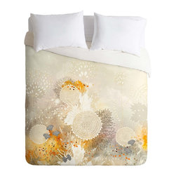 DENY Designs - DENY Designs Iveta Abolina White Velvet Duvet Cover - Lightweight - Turn your basic, boring down comforter into the super stylish focal point of your bedroom. Our Lightweight Duvet is made from an ultra soft, lightweight woven polyester, ivory-colored top with a 100% polyester, ivory-colored bottom. They include a hidden zipper with interior corner ties to secure your comforter. It is comfy, fade-resistant, machine washable and custom printed for each and every customer. If you're looking for a heavier duvet option, be sure to check out our Luxe Duvets!