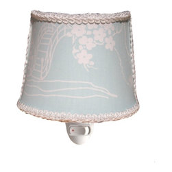 Charn&Co. - Pagoda Blue Nightlight - Pagoda Blue Nightlight with unique decorative shade complete with bulb and ready to go.