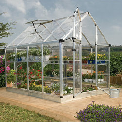 Palram - Palram Silver Snap and Grow Greenhouse (6 x 8) - Weatherproof your plants with this corrosion-resistant,Palram greenhouse. With over 99 percent UV protection,double-wall polycarbonate panels,and an aluminum base,this greenhouse will protect your plants in extremely hot or cold weather.