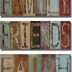 None - Patricia Pinto 'Family,Friends,and Faith' 3-piece Canvas Art Set - Artist: Patricia PintoTitle: Family,Friends,and FaithProduct Type: 3-piece Canvas Art Set