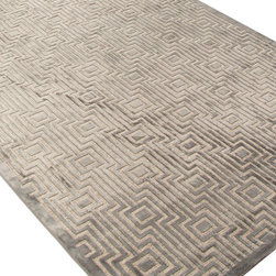 Jaipur Rugs - Machine Made Geometric Pattern Art Silk/ Chenille Gray/Tan Area Rug - Every design tells a story with the Fables Collection. This broad range, crafted in machine-tufted viscose & ultra-soft chenille, brings any space to life with its fashion-forward color palettes. With options suited to many styles and aesthetics, Fables brings together a diverse collection of patterns ranging from sophisticated transitional to boldly scaled contemporary. Origin: Turkey
