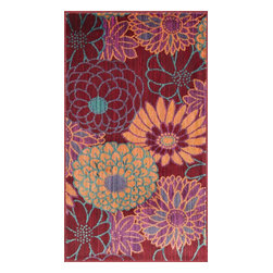 """Loloi Rugs - Loloi Rugs Isabelle Collection - Red / Multi, 1'-7"""" x 2'-6"""" - Both striking and practical, the boldly colored Isabelle Collection offers a scatter rug power loomed of 100% polypropylene for incredible durability and stain resistance. Ideal for kitchens, entryways, or any room that could use plenty of color. Made in Egypt."""