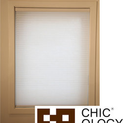 None - Chicology Chicology Whisper White Cordless Cellular Window Shade - This Chicology cordless cellular window shade is energy efficient and helps to insulate your home while providing a timeless look for your window and room. Besides offering light control and privacy,the shade is also cordless.