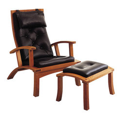 Lolling Chair & Ottoman | Thos Moser - This chair fits the bill as the perfect lounge chair, reading chair, accent chair, and classic chair destined for longevity not only in your house, but most likely through your family as well.