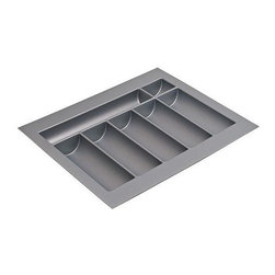 Hafele - 14 in. Cutlery Tray in Silver - Can be trimmed to fit drawer.