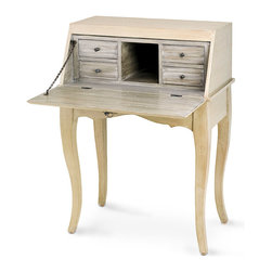 Knollwood Secretary - It would be well-placed whether gracing a summerhouse in the country or a sleek loft in the city. The Knollwood Secretary boasts a charming rustic refinement and houses a hide-away writing desk with a cubby and four drawers for storage. The neutral coloration allows for ease in blending with color palettes either subtle or bold.