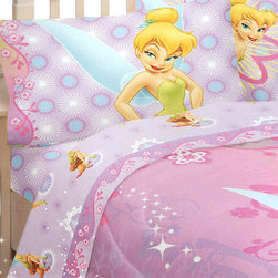 Franco Manufacturing Company Inc - Disney Fairies Tinkerbell Whimsy 3pc Twin Bed Sheet Set - Features: