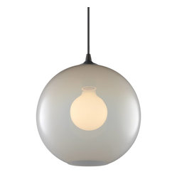 Niche Modern - Solitaire Modern Pendant - Hang this beautiful round pendant on its own or cluster it with a collection of pendants — either way, you will love the warm glow this light provides. Its signature Edison bulb gives the piece added dimension and interest. Your home will glow with a warm, jewel-toned light.