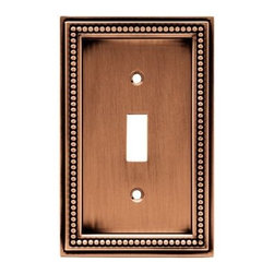 Liberty Hardware - Liberty Hardware 64245 Beaded WP Collection 3.19 Inch Switch Plate - A simple change can make a huge impact on the look and feel of any room. Change out your old wall plates and give any room a brand new feel. Experience the look of a quality Liberty Hardware wall plate. Width - 3.19 Inch, Height - 5 Inch, Projection - 0.3 Inch, Finish - Aged Brushed Copper, Weight - 0.33 Lbs.