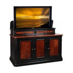Asian Inspired TV Lift Cabinets - Sycamore TV Lift Cabinet manufactured by TVLiftCabinet.com