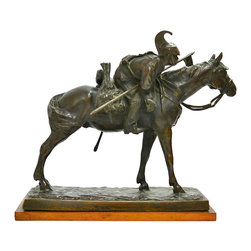 Lavish Shoestring - Consigned In Vedetta, Italian Bronze Sculpture of a Savoian Cavalry Lancer - This is a vintage one-of-a-kind item.
