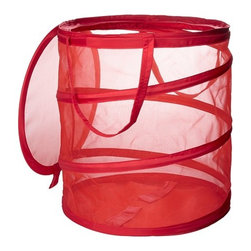 Fyllen Laundry Basket, Red - This would be a great little laundry basket for kids. I would put it in my son's room and hope he learns to pick up his dirty clothes.