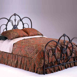 "Bernards - Madrid Headboard - King - King size elegant dark bronze Spanish influenced headboard. Purchase 2 headboards to make a complete bed. Bed frame sold separately.; Dimensions:76.25""W x 57""H"