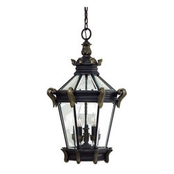The Great Outdoors - The Great Outdoors GO 8934 5 Light Lantern Pendant Stratford Hall Colle - Five Light Lantern Pendant from the Stratford Hall CollectionFeatures: