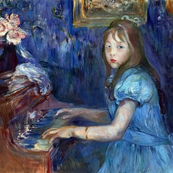 """Berthe Morisot Lucie Leon at the Piano - 16"""" x 20"""" Premium Archival Print - 16"""" x 20"""" Berthe Morisot Lucie Leon at the Piano premium archival print reproduced to meet museum quality standards. Our museum quality archival prints are produced using high-precision print technology for a more accurate reproduction printed on high quality, heavyweight matte presentation paper with fade-resistant, archival inks. Our progressive business model allows us to offer works of art to you at the best wholesale pricing, significantly less than art gallery prices, affordable to all. This line of artwork is produced with extra white border space (if you choose to have it framed, for your framer to work with to frame properly or utilize a larger mat and/or frame).  We present a comprehensive collection of exceptional art reproductions byBerthe Morisot."""