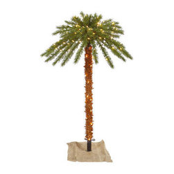 6 ft. Artificial Pre-Lit Christmas Palm Tree - 6 ft. Christmas Palm Tree