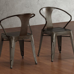 None - Vintage Tabouret Stacking Chair (Set of 4) - These stacking chairs feature a vintage and industrial look. Fully assembled,this set of four chairs are comnpleted with a scratch and mar resistant finish.