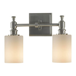 Murray Feiss - Murray Feiss Sullivan Bathroom Lighting Fixture in Brushed Steel - Shown in picture: Sullivan Vanity Strip in Brushed Steel finish with White Opal'Glass