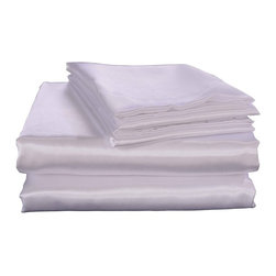 Honeymoon - Honeymoon super soft 4PC Bed Sheet Set Wrinkle-free, Fade-resistant, White, Full - Microfiber polyester