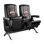 Dreamseat Inc. - Ohio State University NCAA Buckeyes Row One VIP Theater Seat - Triple - Please note: This item is the 3-seat version. We apologize that we do not have photos of 3 together. Check out these fantastic home theater chairs. These are the same seats that are in the owner's VIP luxury boxes at the big stadiums. It has a rocker back and padded seat, so it's unbelievably comfortable - once you're in it, you won't want to get up. Features a zip-in-zip-out logo panel embroidered with 70,000 stitches. Converts from a solid color to custom-logo furniture in seconds - perfect for a shared or multi-purpose room. Root for several teams? Simply swap the panels out when the seasons change. This is a true statement piece that is perfect for your Man Cave, Game Room, basement or garage.