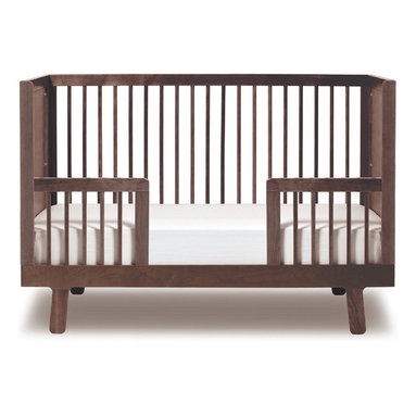 Oeuf - Sparrow Crib Conversion Rail, Walnut, By Oeuf - Every parent appreciates furniture that can actually grow with baby. This conversion rail turns a crib into a safe toddler bed. It allows for entering and exiting the bed while the railing keeps your little one snug and secure while he or she is snoozing. What a relief!