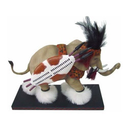 WL - 5 Inch Tan Zulu Warrior Elephant Collectible Figurine Statue - This gorgeous 5 Inch Tan Zulu Warrior Elephant Collectible Figurine Statue has the finest details and highest quality you will find anywhere! 5 Inch Tan Zulu Warrior Elephant Collectible Figurine Statue is truly remarkable.