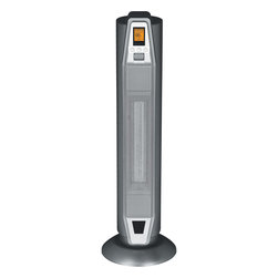 Sunpentown - Tower Ceramic Heater With Thermostat - Ceramic heat offers soothing warmth and the safety of a low surface temperature. Oscillating unit provides widespread heat coverage to gradually warm your entire room. Choose from 4 settings: high heat, low heat, auto heat and fan. Features digital thermostat with LCD display and remote, timer and removeable filter. Elegant standing design will compliment any room.