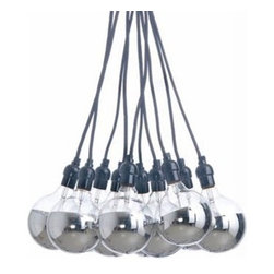 NUEVO - Ten Tales Pendant, Half Chrome - The Cluster pendant is a fabulous combination of urban and industrial. Make this your statement pendant or let it blend effortlessly with the rest of your space.
