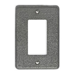 Atlas - Olde World Single Rocker Switch Plate - OWPSR - Color: PewterManufacturer SKU: OWPSR-P. Projection: 0.25 in.. Made from metal. 4.87 in. L x 3.125 in. W