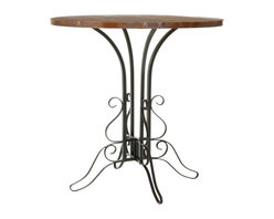 Safavieh - Safavieh Caper Fir Wood Accent Table in Black and Walnut - Safavieh - Accent Tables - AMH6529A - This Safavieh Caper Black Iron Walnut Finish Accent Table features a fancy iron and lightly distressed medium cherry walnut finish. This table would be perfect beside a good-size chair or sofa or in the corner between a sofa and loveseat.