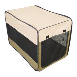 Buffalo Tools - Portable Pet Kennel (42 in.) - Size: 42 in.. Protect your favorite furry friends when traveling with this portable pet kennel, a soft fabric unit that's an ideal home away from home when camping, at a hotel or at home. Enhanced by breathable mesh sides, the kennel is available in your choice of sizes and collapses easily for compact storage. Pop-up design is perfect for traveling, camping and home. Hook and loop fasteners. Helps keep kennel stationary on carpet surfaces. Soft-sided design is strong, durable and comfortable. Water resistant 600D constructions with wire frame. Mesh windows and zipper door offers maximum ventilation. Easy collapses for convenient storage