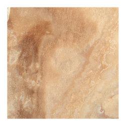 Stone & Co - Crema Caramel Onyx Polished 12x12 Floor and Wall Tile - Finish: Polished