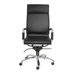 Euro Style - Euro Style Gunar Pro High Back Office Chair X-KLB46210 - If you're headed for the corner office, you're going to need one of these.  The high back support adds obvious authority to any meeting.  The reliable tilt mechanism invites you to lean back and survey all that you've accomplished.