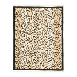 "Torabi Rugs - Machine made Zebra Trek Beige Polypropylene Rug 5'7"" x 7'4"" - Zebra Trek is an elegant collection of rugs that resemble the beautiful animal prints found in the African outback. This gorgeous animal print rug made from soft and frisee yarn adds a touch of the exotic to your home."